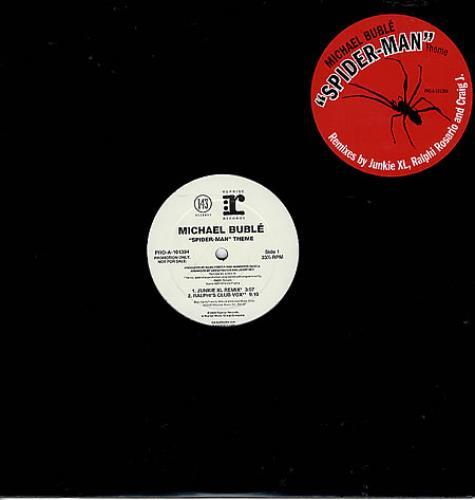 "Michael Buble Spider-Man Theme 12"" vinyl single (12 inch record / Maxi-single) US M6Y12SP360027"