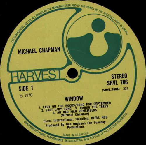 Michael Chapman Window - VG vinyl LP album (LP record) UK MCNLPWI654616