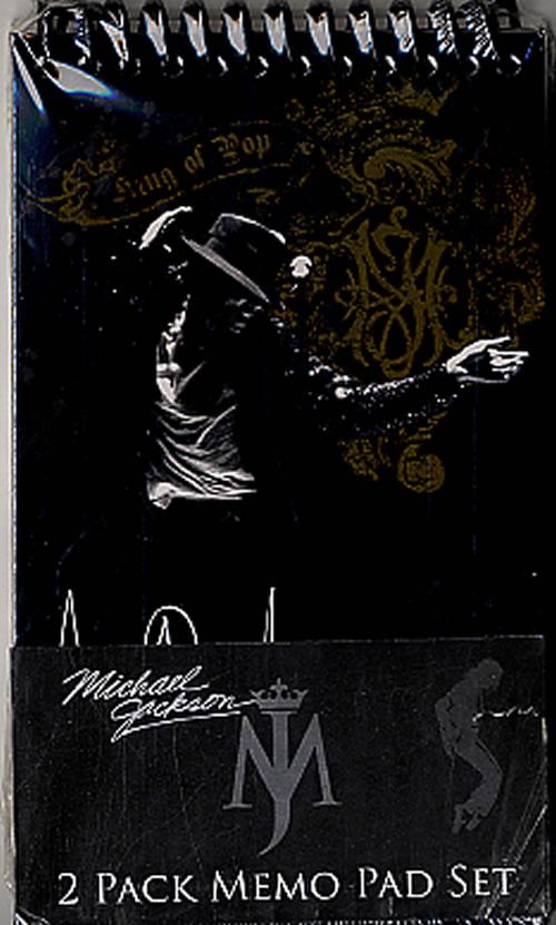 Michael Jackson 2 Pack Memo Pad Set - King Of Pop memorabilia US M-JMMPA590390