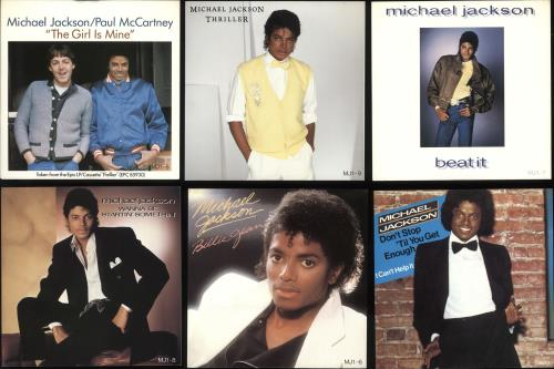 "Michael Jackson 9 Singles Pack - Complete - EX 7"" vinyl single (7 inch record) UK M-J07SI582010"