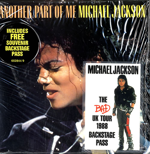 "Michael Jackson Another Part Of Me + Tour Pass 7"" vinyl single (7 inch record) UK M-J07AN83157"
