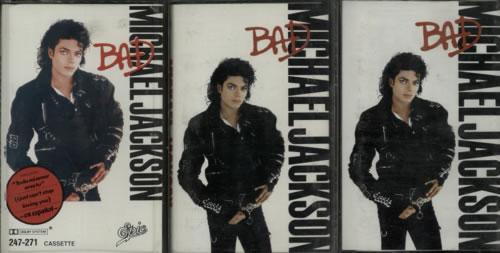 Michael Jackson Bad - Set of Three from UK, Argentina & Chile cassette album UK M-JCLBA621647
