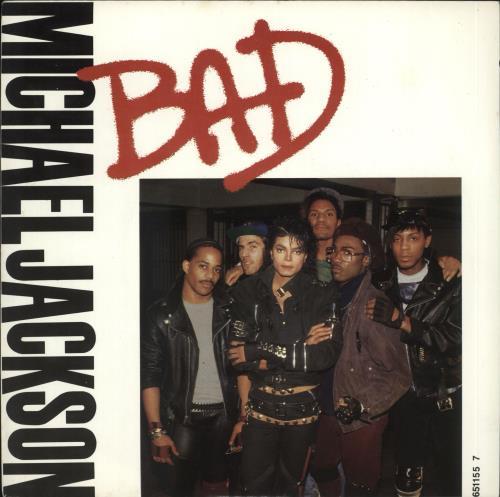 "Michael Jackson Bad 7"" vinyl single (7 inch record) UK M-J07BA17693"