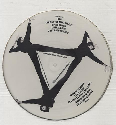 Michael Jackson Bad picture disc LP (vinyl picture disc album) UK M-JPDBA17694
