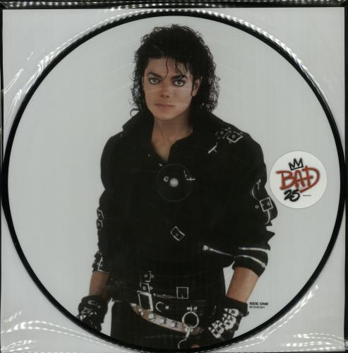 Michael Jackson BAD25 picture disc LP (vinyl picture disc album) UK M-JPDBA570188
