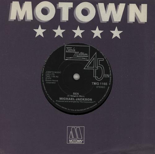 "Michael Jackson Ben - Solid Centre 7"" vinyl single (7 inch record) UK M-J07BE52793"