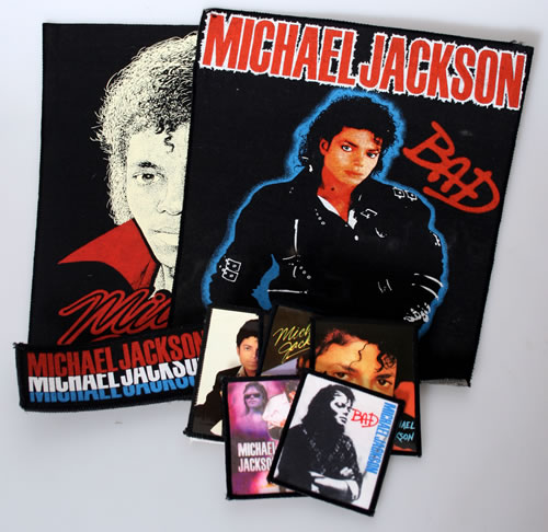 Michael Jackson Collection of Sew-on Patches UK memorabilia