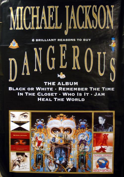 Michael Jackson Dangerous - 6 Brilliant Reasons To Buy poster UK M-JPODA624742