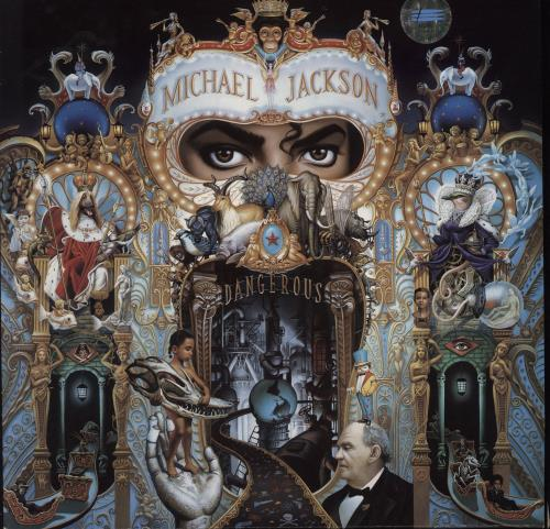 Michael Jackson Dangerous - EX 2-LP vinyl record set (Double Album) UK M-J2LDA629722