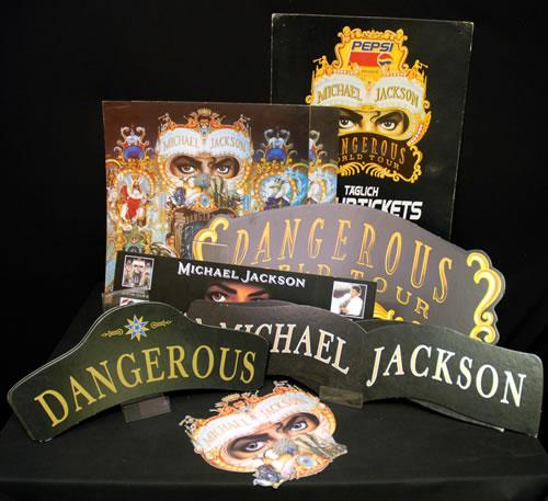 Michael Jackson Dangerous - Quantity of Ten Promotional Display display UK M-JDIDA633320
