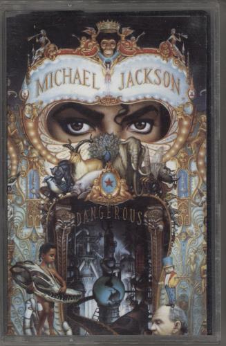 Michael Jackson Dangerous - Yellow Barcode cassette album UK M-JCLDA769311