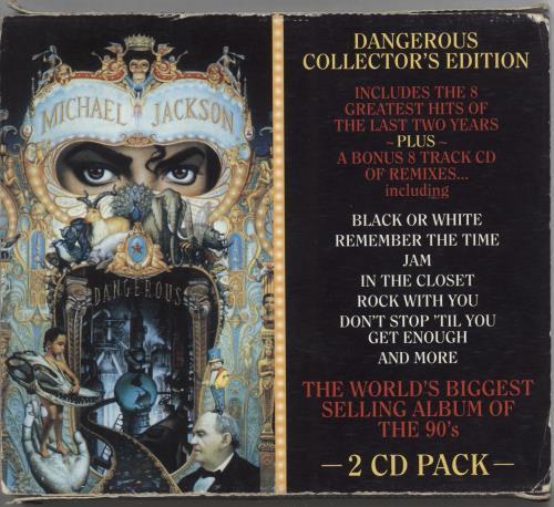 Michael Jackson Dangerous: Collectors Edition + Slipcase - VG Australian 2  CD album set (Double CD)