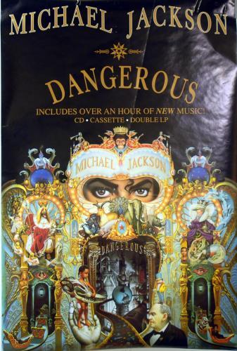 Michael Jackson Dangerous poster UK M-JPODA624475