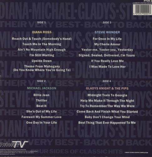 Michael Jackson Diana - Michael - Gladys - Stevie - Their Very Best - Back To Back 2-LP vinyl record set (Double Album) UK M-J2LDI750593