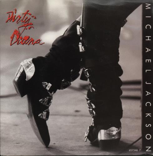 "Michael Jackson Dirty Diana 7"" vinyl single (7 inch record) UK M-J07DI39526"