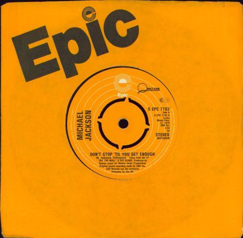"Michael Jackson Don't Stop 'Til You Get Enough - 1st - 4pr 7"" vinyl single (7 inch record) UK M-J07DO588834"