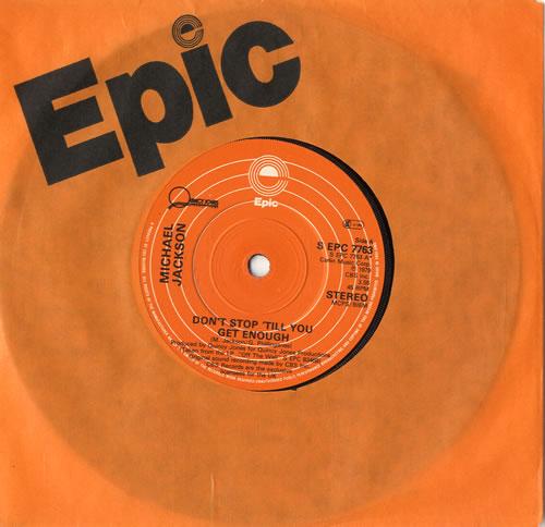 "Michael Jackson Don't Stop 'til You Get Enough - 1st - Solid 7"" vinyl single (7 inch record) UK M-J07DO86652"