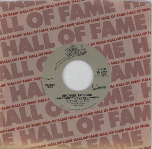 """Michael Jackson Don't Stop 'Til You Get Enough - Hall Of Fame series 7"""" vinyl single (7 inch record) US M-J07DO756253"""