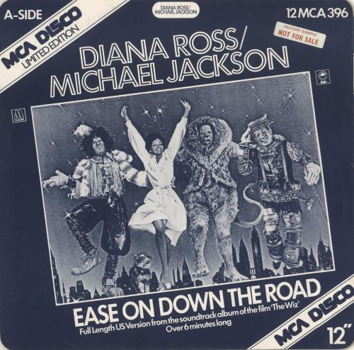 "Michael Jackson Ease On Down The Road - Factory Sample 12"" vinyl single (12 inch record / Maxi-single) UK M-J12EA746379"