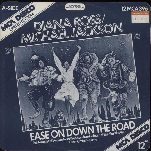 "Michael Jackson Ease On Down The Road 12"" vinyl single (12 inch record / Maxi-single) UK M-J12EA35748"