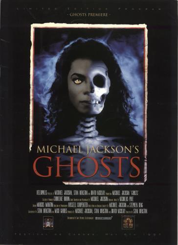 Michael Jackson Ghosts - Cannes Premiere Program tour programme French M-JTRGH710805
