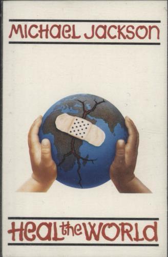 Michael Jackson Heal The World cassette single UK M-JCSHE33837