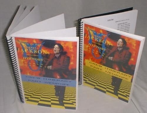 Michael Jackson History World Tour '97 - Parts 1 & 2 book UK M-JBKHI172628