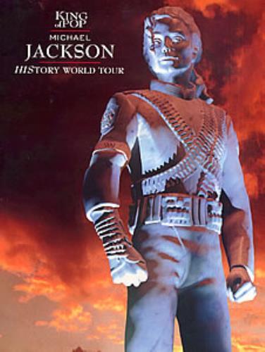 Michael Jackson History World Tour tour programme UK M-JTRHI114015