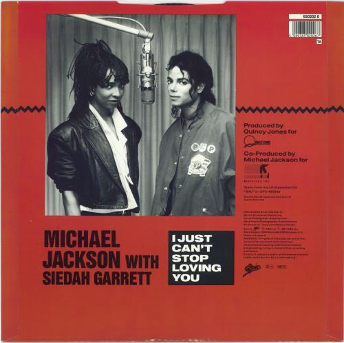 "Michael Jackson I Just Can't Stop Loving You + Poster - EX 12"" vinyl single (12 inch record / Maxi-single) UK M-J12IJ771210"