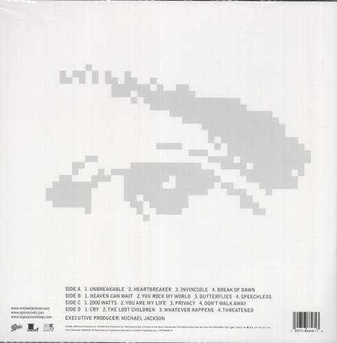 Michael Jackson Invincible picture disc LP (vinyl picture disc album) UK M-JPDIN717307