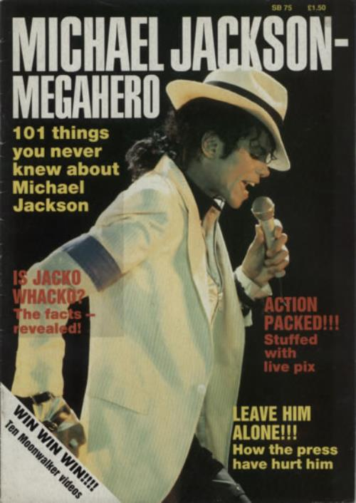 Michael Jackson Megahero magazine UK M-JMAME216300
