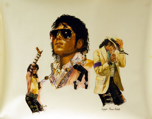 Michael Jackson Michael Jackson by Rummer '88 poster UK M-JPOMI627320