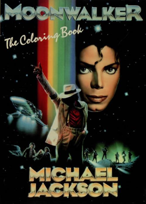 Michael Jackson Moonwalker: The Coloring Book US book (488728) 0-385 ...
