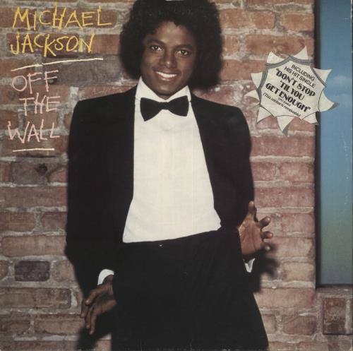Michael Jackson Off The Wall - shaped-sticker p/s vinyl LP album (LP record) UK M-JLPOF719633