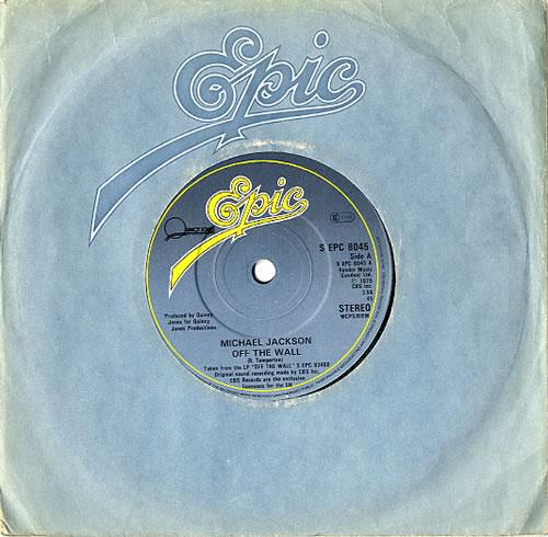 "Michael Jackson Off The Wall 7"" vinyl single (7 inch record) UK M-J07OF618649"