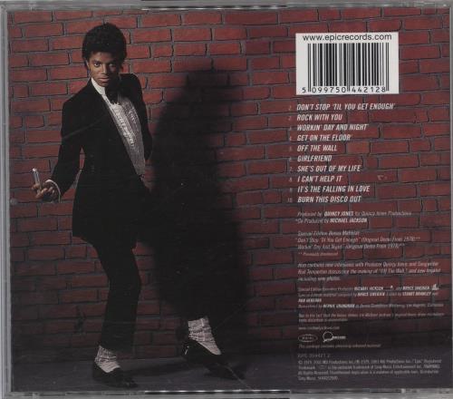 Michael Jackson Off The Wall CD album (CDLP) UK M-JCDOF767082