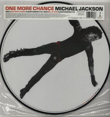 """Michael Jackson One More Chance - Number 0014 12"""" vinyl picture disc 12inch picture disc record UK M-J2PON648398"""
