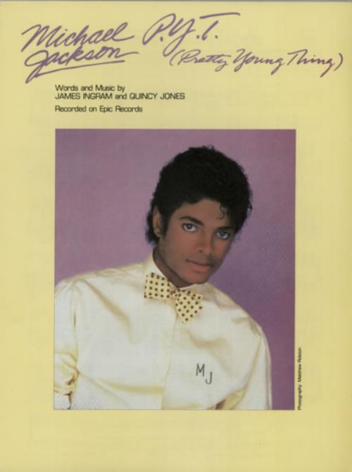 Michael Jackson P.Y.T. [Pretty Young Thing] sheet music UK M-JSMPY582137