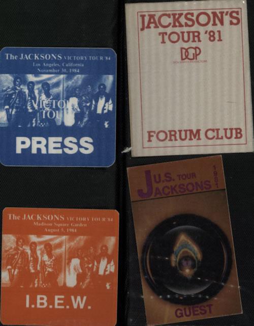 Michael Jackson Quantity Of 70 Tour Passes & Ticket Stubs memorabilia UK M-JMMQU610651