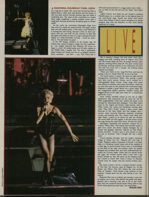 Michael Jackson Record Mirror magazine UK M-JMARE607931