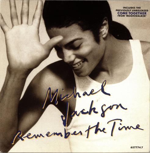 "Michael Jackson Remember The Time + Sleeve 7"" vinyl single (7 inch record) UK M-J07RE695285"
