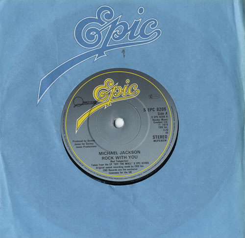 "Michael Jackson Rock With You 7"" vinyl single (7 inch record) UK M-J07RO567209"