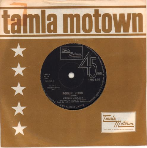 "Michael Jackson Rockin' Robin 7"" vinyl single (7 inch record) UK M-J07RO672422"
