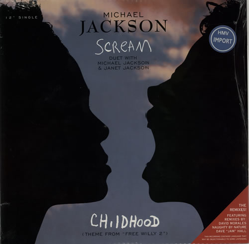 "Michael Jackson Scream + Shrinkwrap 12"" vinyl single (12 inch record / Maxi-single) US M-J12SC613025"