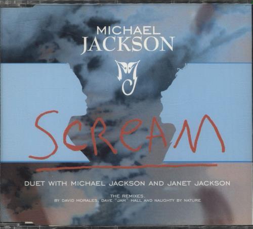"Michael Jackson Scream - Blue Sleeve CD single (CD5 / 5"") UK M-JC5SC47387"