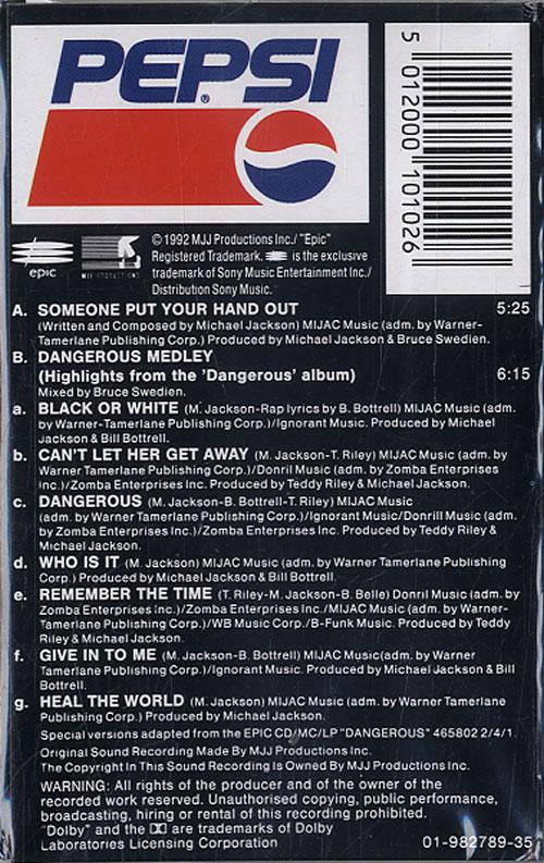 Michael Jackson Someone Put Your Hand Out cassette single UK M-JCMSO09325