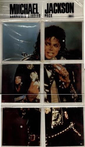 Michael Jackson Souvenir Singles Pack - EX shaped picture disc (picture disc vinyl record) UK M-JSHSO698830