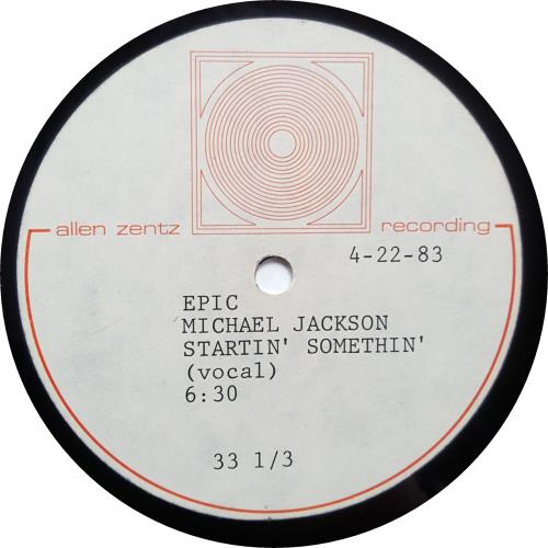 Michael Jackson Startin' Somethin' - Pair acetate US M-JATST646315