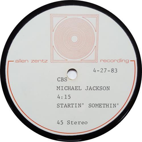 Michael Jackson Startin' Somethin' acetate US M-JATST646311