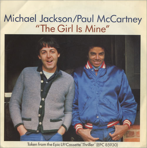 """Michael Jackson The Girl Is Mine + Picture Sleeve 7"""" vinyl single (7 inch record) UK M-J07TH38789"""